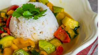 Vegan Chu Chee Curry / Sebzeli Chu Chee Curry